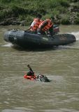 INDONESIA WATER RESCUE TRAINING Royalty Free Stock Image