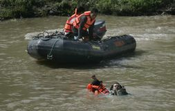 INDONESIA WATER RESCUE TRAINING Royalty Free Stock Photography