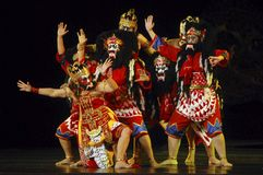 INDONESIA WAYANG WONG PERFORMANCE THEATRICAL DANCE CULTURE Royalty Free Stock Photography