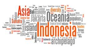 Indonesia word cloud Stock Photo