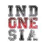 Indonesia word text pride of national ideology Royalty Free Stock Image