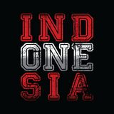 Indonesia word text pride of national ideology Royalty Free Stock Photos