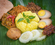 Indonesia Yellow Rice Royalty Free Stock Photos