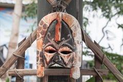 Indonesian男爵样式面具 免版税库存照片
