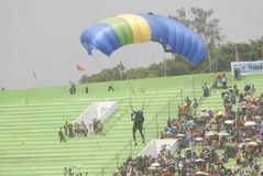INDONESIAN AERO SPORTS. The World Military Parachuting Championships that was held in Solo, Java, Indonesia. Indonesian aero sports are housed within the Royalty Free Stock Photos