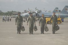 INDONESIAN AIR FORCE PILOT Stock Image