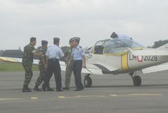 INDONESIAN AIR FORCE PLANE Stock Image