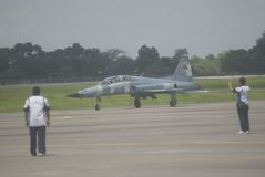 INDONESIAN AIR FORCE PLANE Royalty Free Stock Photo