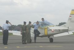 INDONESIAN AIR FORCE PLANE Stock Photography