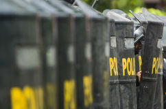 INDONESIAN ANTI RIOT FORCE Stock Image