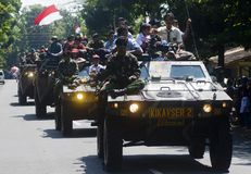 INDONESIAN ARMY CAVALRY CONVOY Stock Photo