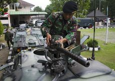 INDONESIAN ARMY CAVALRY Stock Photography