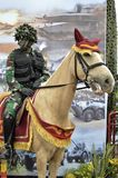 Indonesian army rides a horse Royalty Free Stock Photography
