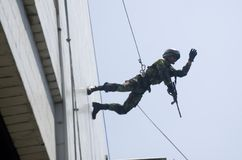 INDONESIAN ARMY SPECIAL FORCES DRILL Stock Image