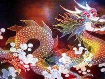 Indonesian art - dragon stock image