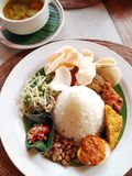 Indonesian & bali ethnic cuisine Royalty Free Stock Photos