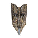 Indonesian Bali wooden mask. On a white background stock image