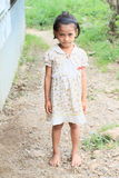 Indonesian barefoot girl Royalty Free Stock Image