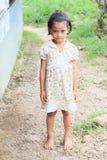 Indonesian barefoot girl royalty free stock image