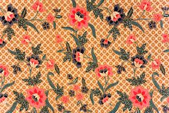 Indonesian Batik Sarong. Image of Indonesian batik sarong pattern Stock Image