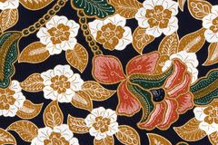 Indonesian Batik Sarong Royalty Free Stock Photography