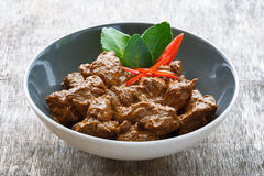 Indonesian Beef rendang. Beef rending is a traditional Indonesian food Stock Image