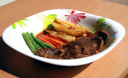 Indonesian beef steak Royalty Free Stock Image