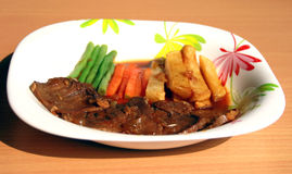 Indonesian beef steak Stock Image