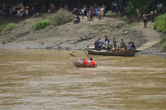 INDONESIAN BENGAWAN SOLO RIVER Stock Image