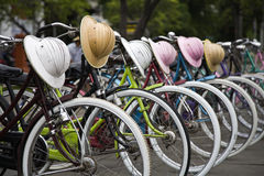 Indonesian bicycles royalty free stock images