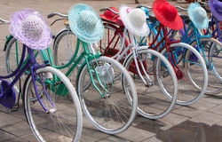 Indonesian bicycles Royalty Free Stock Image