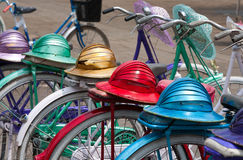 Indonesian bicycles Stock Photo