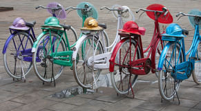 Indonesian bicycles Royalty Free Stock Photo