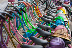 Indonesian bicycles Stock Images