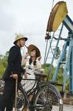 Indonesian bridal couples prewedding photoshoot Stock Image
