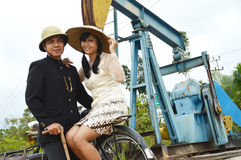 Indonesian bridal couples prewedding photoshoot Stock Image
