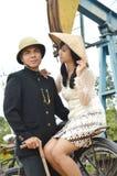 Indonesian bridal couples prewedding photoshoot. Indonesian bridal couples were dressed in vintage costume Stock Images