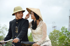 Indonesian bridal couples prewedding photoshoot Stock Photo
