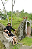 Indonesian bridal couples prewedding photoshoot Royalty Free Stock Images