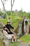 Indonesian bridal couples prewedding photoshoot Royalty Free Stock Images