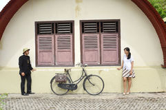 Indonesian bridal couples prewedding photoshoot Royalty Free Stock Photo
