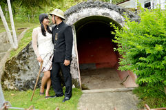 Indonesian bridal couples prewedding photoshoot Stock Images