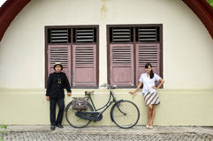 Indonesian bridal couples prewedding photoshoot Stock Photography