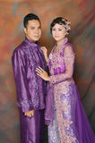 Indonesian bridal couples Royalty Free Stock Image