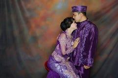 Indonesian bridal couples. Were dressed in kebaya costume Stock Photo