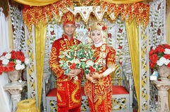 Indonesian bridal couples Stock Image