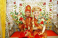 Indonesian bridal couples Stock Images