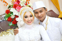 Indonesian bridal couples Royalty Free Stock Photography