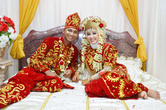Indonesian bridal couples Stock Photography