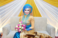 Indonesian bride Royalty Free Stock Photography